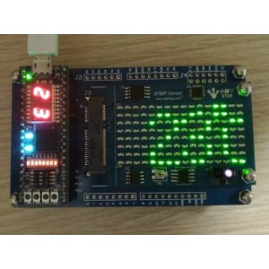 传感器及点阵LED显示功能板